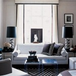 Modern Contemporary Black And White Living Room Concept Full