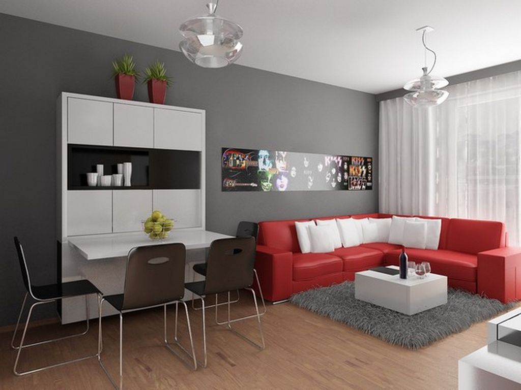 Modern Contemporary Small Apartment Interior Design Concept Home