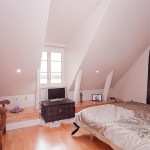 Modern Crisp White Apartment Stockholm Bright Attic Bedroom
