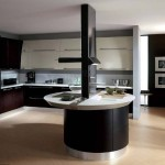 Modern Dark Modular Small Island Italian Kitchen Designs