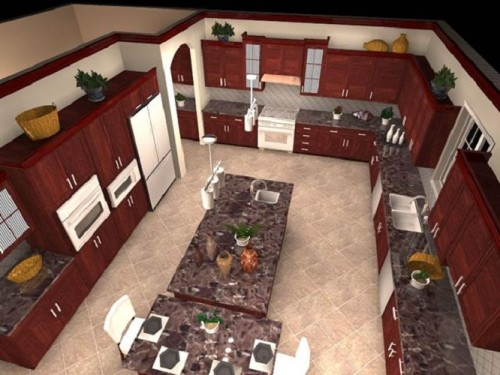 Modern Free Floor Plan Kitchen Design Software