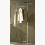 Modern Furniture Contemporary Orion Glass And Chrome Coat Rack