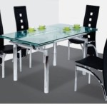 Modern Glass Dining Table Extendable Top