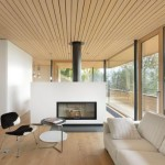 Modern House Design Wooden Home Interiors And Glass Walls