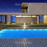 Modern House Pool Stock Giordano Aita