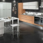 Modern Kitchen Black Tiles Floor Tile Ideas