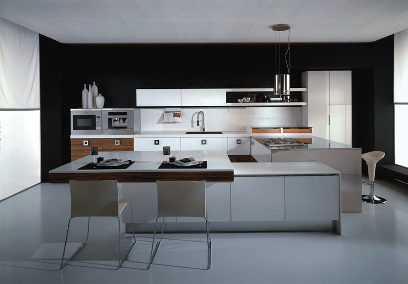 Modern Kitchen Island Design And Lcd