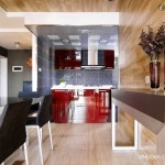 Modern Open Plan Kitchen Dining Room Decoration Effect Chart Greatly