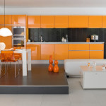 Modern Orange Kitchen Decor Ideas And Dining Room Pictures