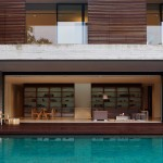 Modern Pool And House Wooden Decking Murray Mitchell