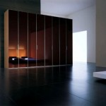 Modern Stand Alone Glossy Wardrobe Swing Doors Images