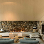 Modern Stone Fireplace Design Pattersons Architects