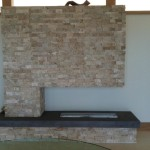 Modern Stone Fireplace Living Room Tampa Urban
