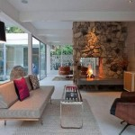 Modern Stone Fireplace Unique Design