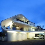 Modern Tropical House Architecture Beautiful Lighting Home