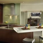 Modern Wood Mode Kitchen Adjoining Office City View