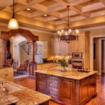 Most Beautiful Kitchen Wooden Floor Cabinets And Lighting Designs
