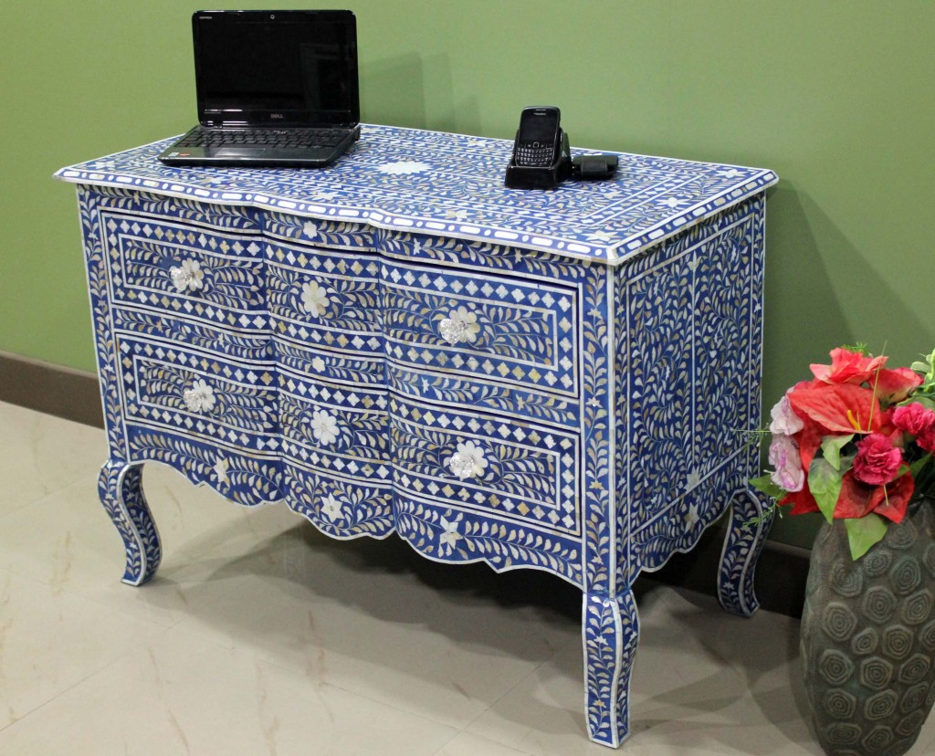 Mother Pearl Inlay Chest Drawer French Style Mop