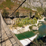 Name Simple Suspension Bridge Above The River Tara Montenegro