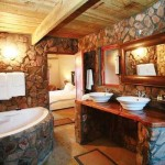 Natural Stone And Wood For Bathroom Wall Deciding The Correct