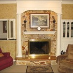 Natural Stone Fireplace Raised Hearth The Focal Point