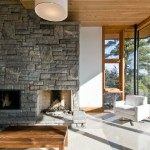 Natural Stone Fireplace Stunning Cliff House Altius Architecture