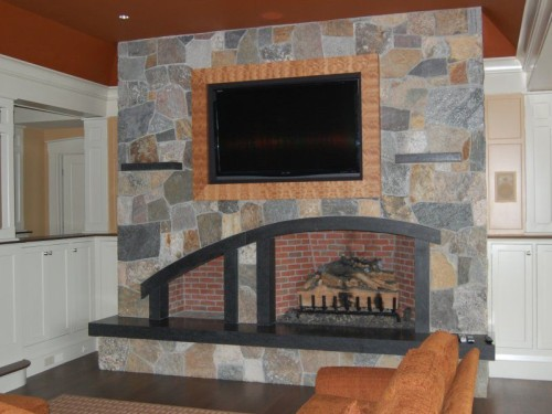 Natural Stone Siding For Architecture Veneer Fireplace