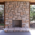 Natural Stone Veneer Fireplace Reface Modern Fireplaces Chicago