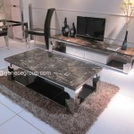 New Design Marble Top Coffee Table Stainless Steel Frame Living Room