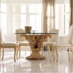 New Modern Glass Top Dining Tables Designs And Remodeling Ideas