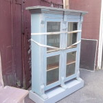 Nice Bookcase Two Glass Doors Eastlake Style And Tall Mauve Shabby