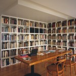Nice Library Corner Bookcases Table And Chairs Book Storage