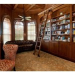 Nice Paneled Den Wood Bookcases And Sliding Dream Libraries