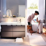 Nice Small Bathroom Area Arranging The Appear Bigger