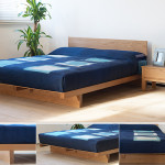 Oak Wooden Beds Kumo Low Japanese Style Bed Buy Online