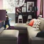 Office Design For Women Beautiful Purple Cream Home