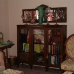 Old Bookcase Inside Back Furniture