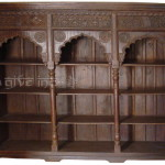 Old Door Frame Bookshelf Carved Bookrack