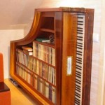 Old Piano Bookcase