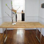 Old Table Top And Ikea Legs Diy Furniture