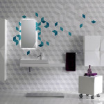 One Total Pics Modern Futuristic Bathroom Wall Tile Designs