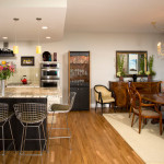 Open Dining Room And Kitchen Eclectic Metro
