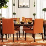 Orange Dining Room Interior Decorating Budget