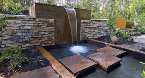 Outdoor Home Water Features Decorating
