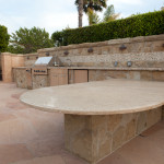 Outdoor Kitchen Function Countertop Making