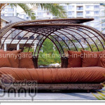 Outdoor Rattan Lounge Bed China