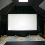 Painted The Theater Half Room Black And Put Rope Lights
