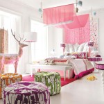 Painting Little Girls Room Ideas Pink Color Decorating Interior