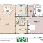 Panels Esips Traditional Colonial Floor Plan Gets Modern Makeover