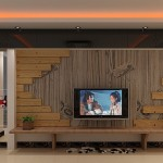 Pastoral Style Living Room Wooden Wall House Free